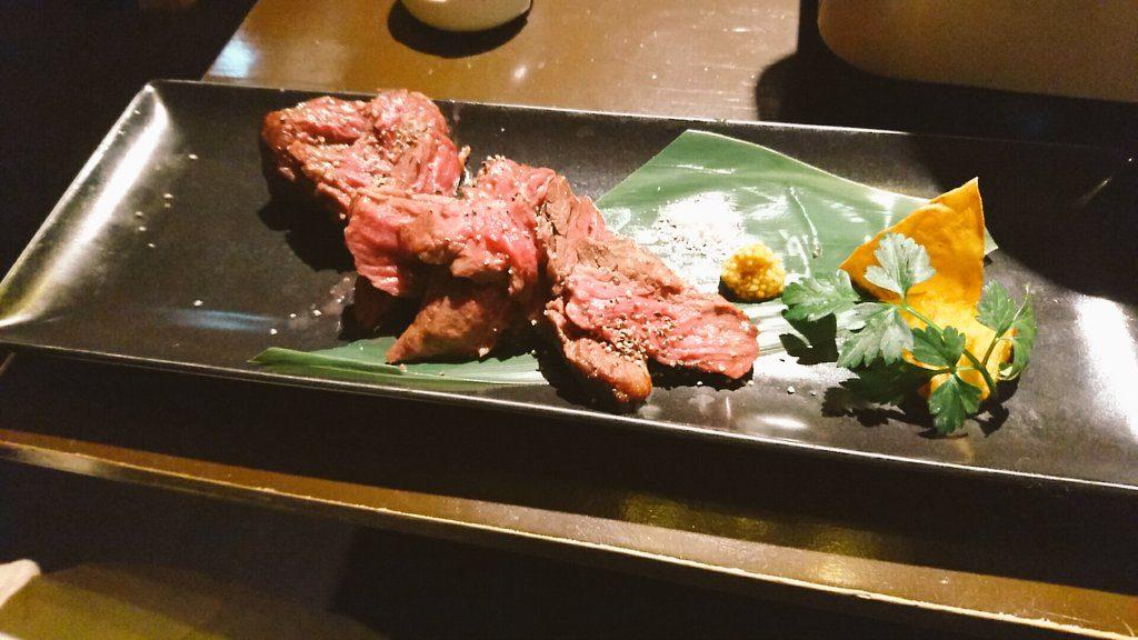 やわらかジューシー!牛サガリのステーキ